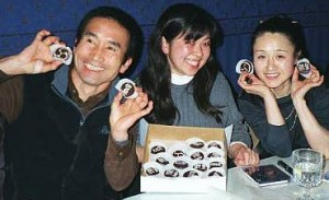 Meg Suzuki, back in her days with ONE, hanging out with the members of KODO.  Are those KODO cupcakes?!?