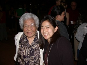 Me and Grandma at the 2005 Taiko Conference
