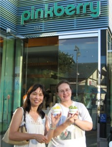 Tanya introduces me to Pinkberry's frozen yogurt.  If nothing else, I know tomorrow will include another trip there.